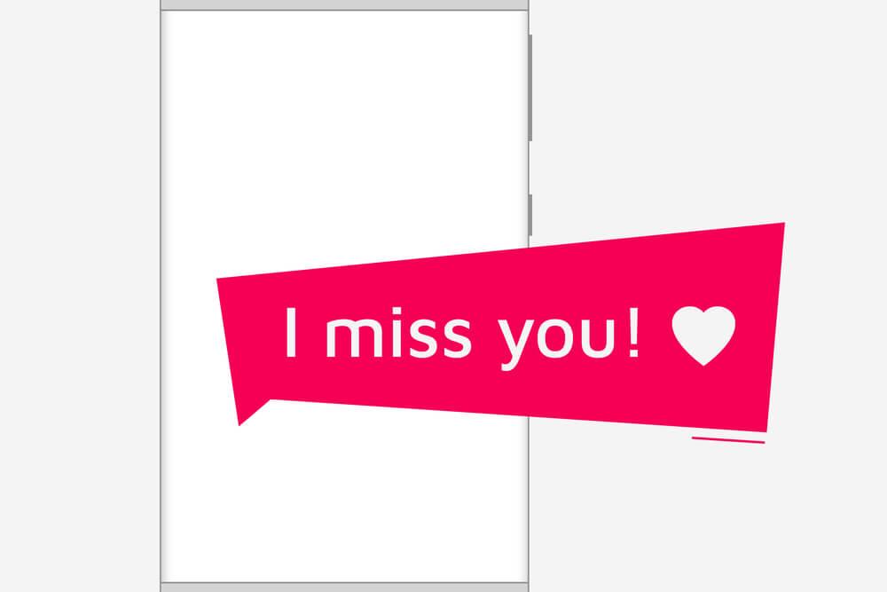 ilustração de mensagem de saudade relacioanndo email de clientes inativos