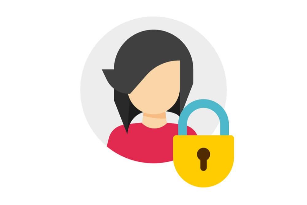 ilustração de usuário do instagram e cadeado representando bloquar uma pessoa
