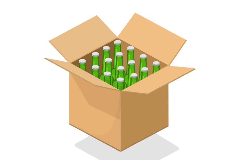 ilustraçao demonstrando caixa de assinatura de cervejas