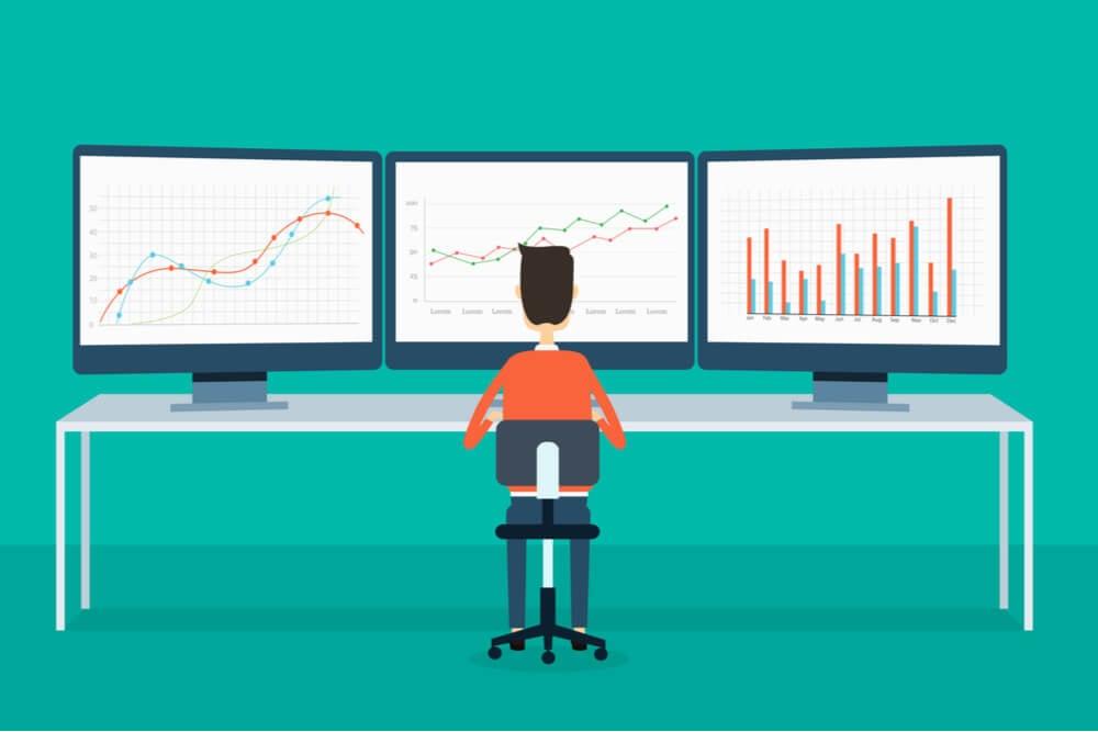 ilustração demonstrando monitoramento de resultados dentro da tecnologia marketing 4.0