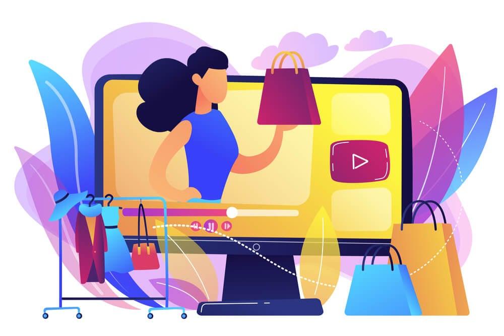 ilustração representando compras na internet