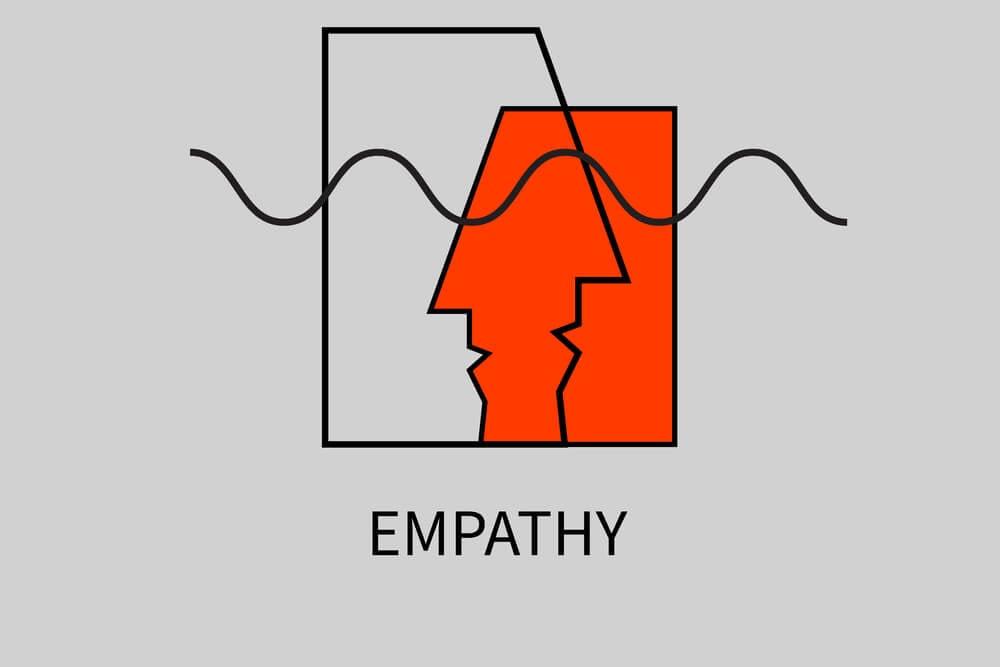 ilustração simples sobre empatia junto de título