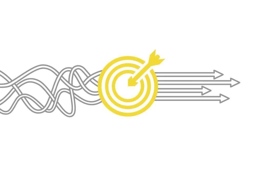 ilustração sobre alinhar metas