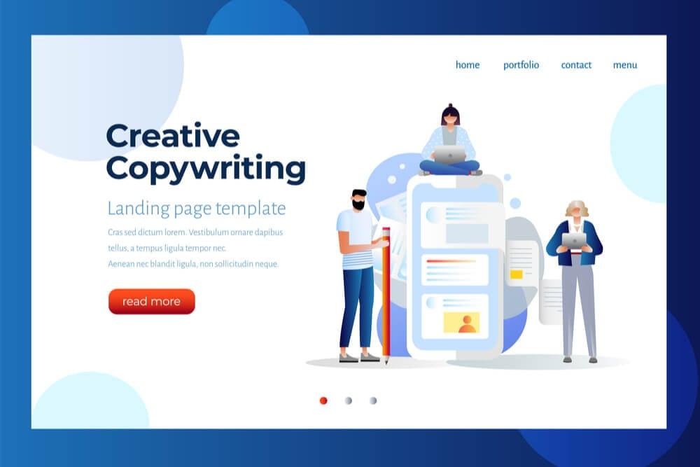 ilustração sobre copywriter criativo