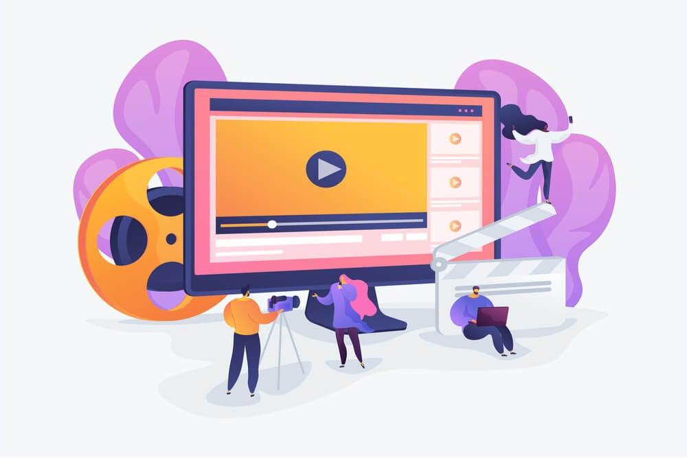 ilustração sobre criação de vídeos
