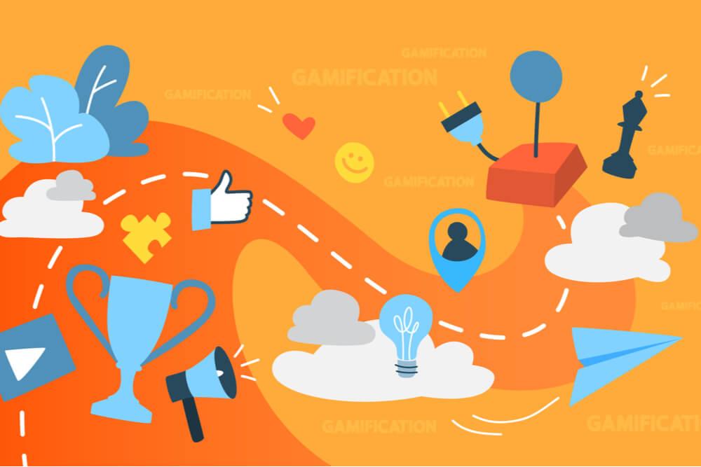 ilustração sobre criatividade e internet