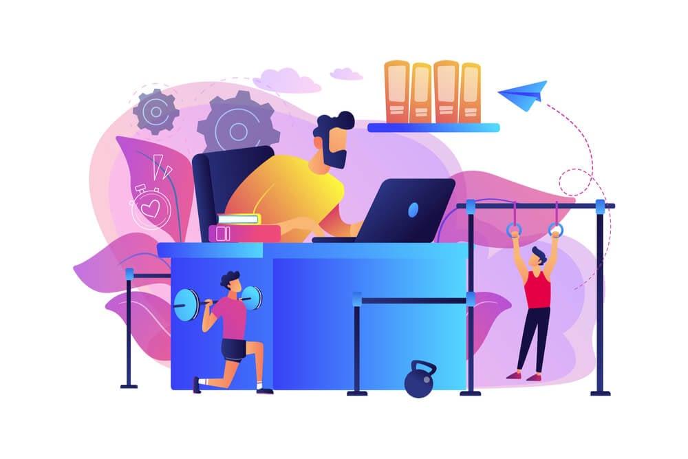 ilustração sobre exercitar a criatividade