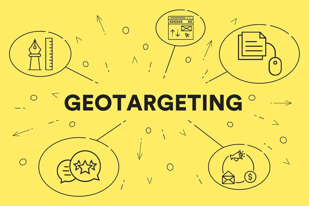 ilustração sobre geotargetting