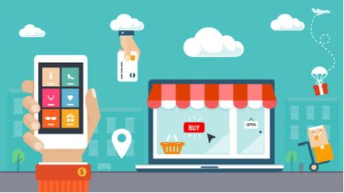 ilustração sobre local de vendas