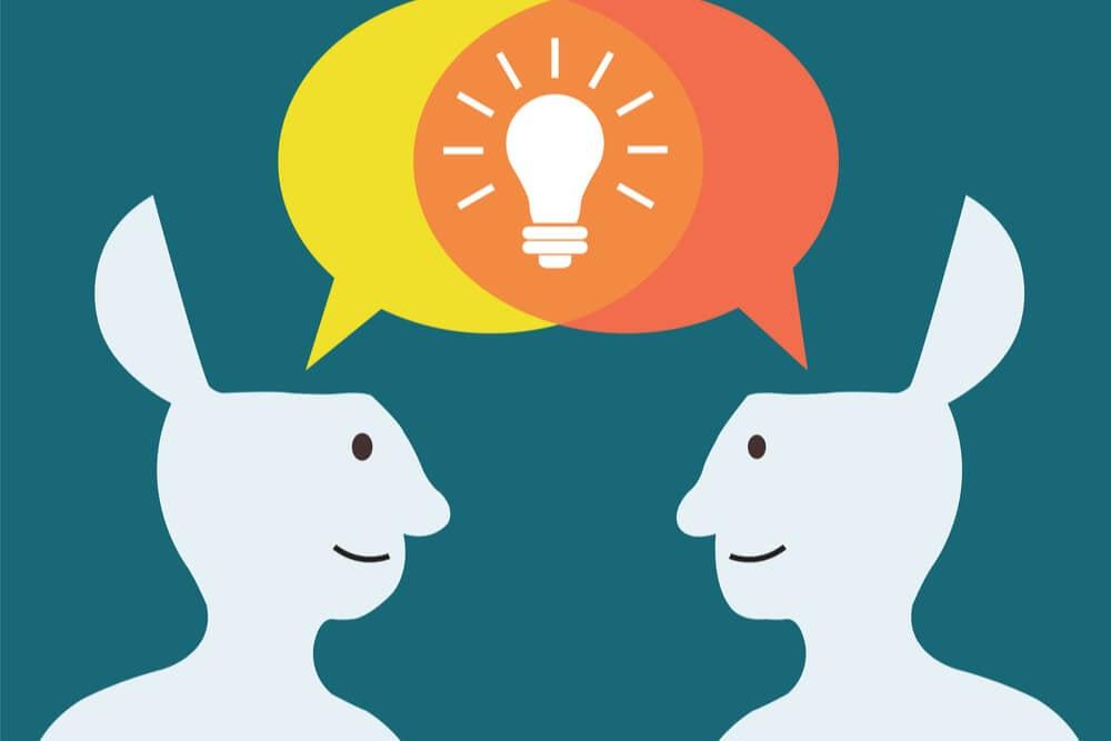 ilustração sobre mentes abertas