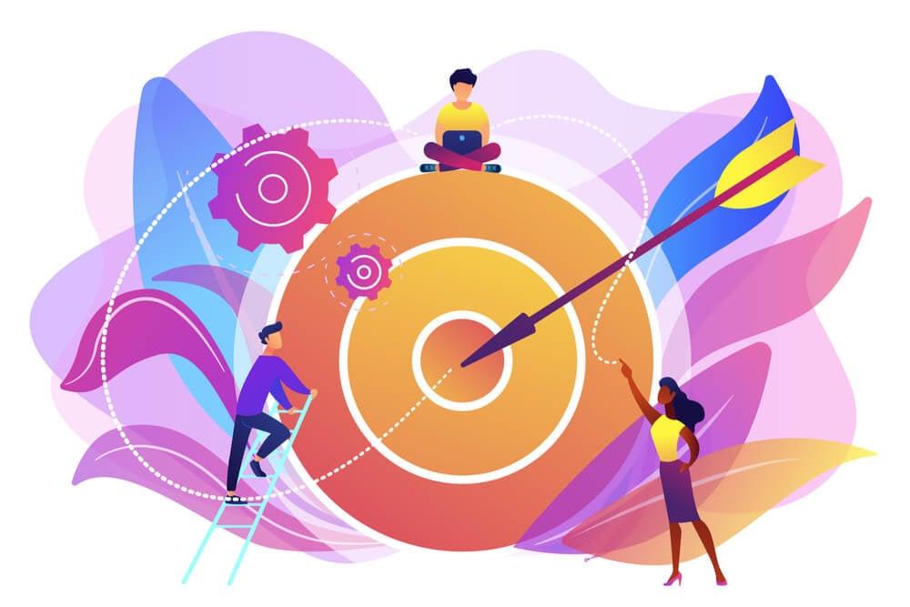 ilustração sobre metas