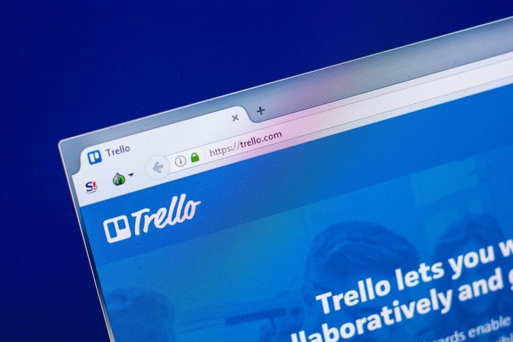 janela de aplicativo desktop Trello