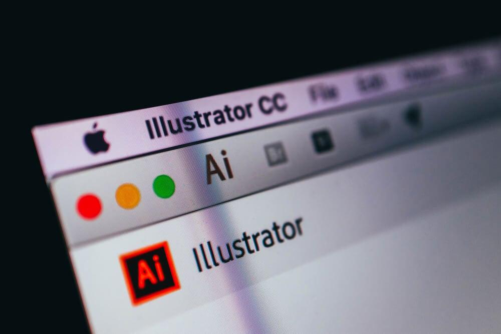 logo do aplicativo para criação de ilustrações Illustrator de empresa Adpbe