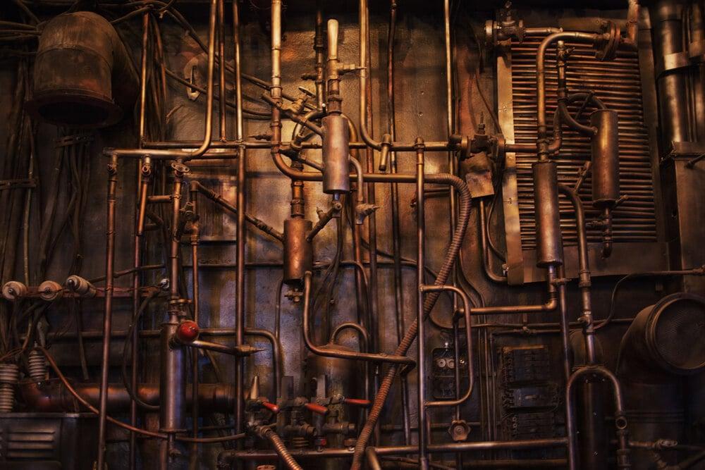máquina a vapor representante da primeira revolucao industrial