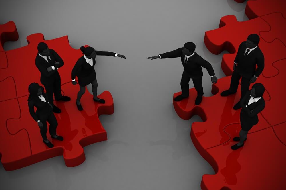 representação de quipes de empresas em cumrpimento de fusão