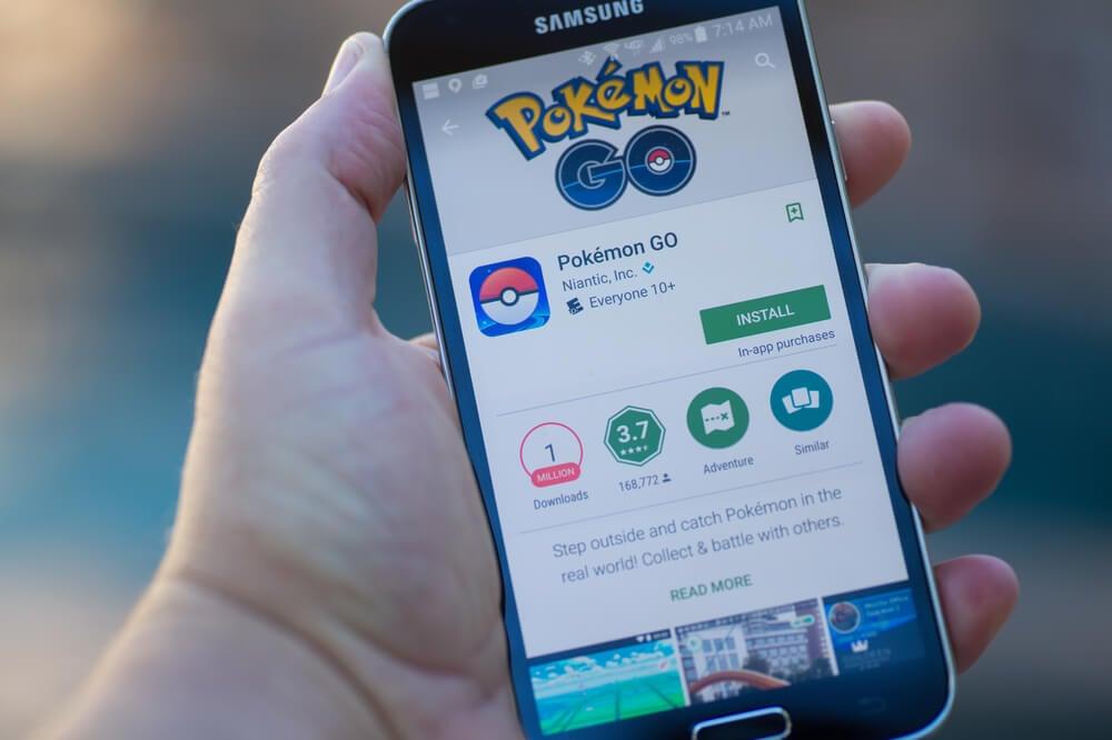 tela de download do aplicativo Pokemon Go