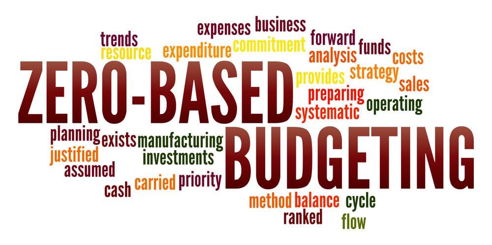 titulo em destaque da ferramenta de gestão Orçamento Base Zero junto de termos relacionados