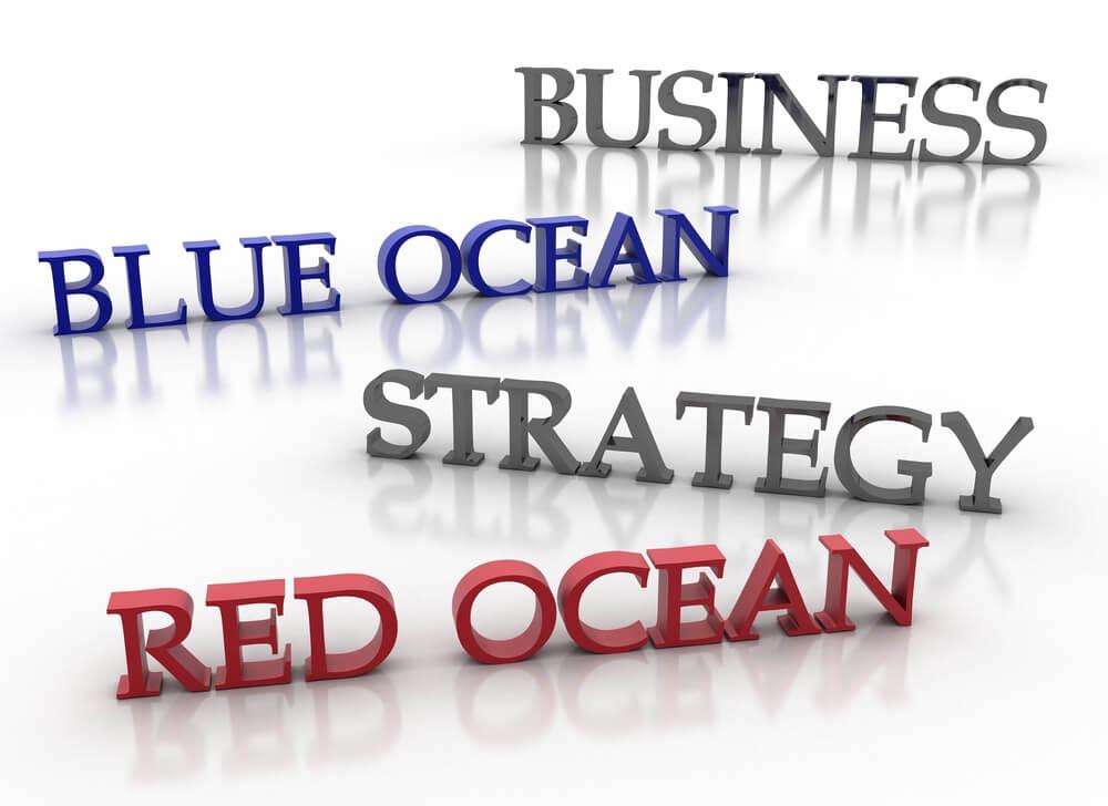 títulos sobre a estratégia de oceano azul e vermelho