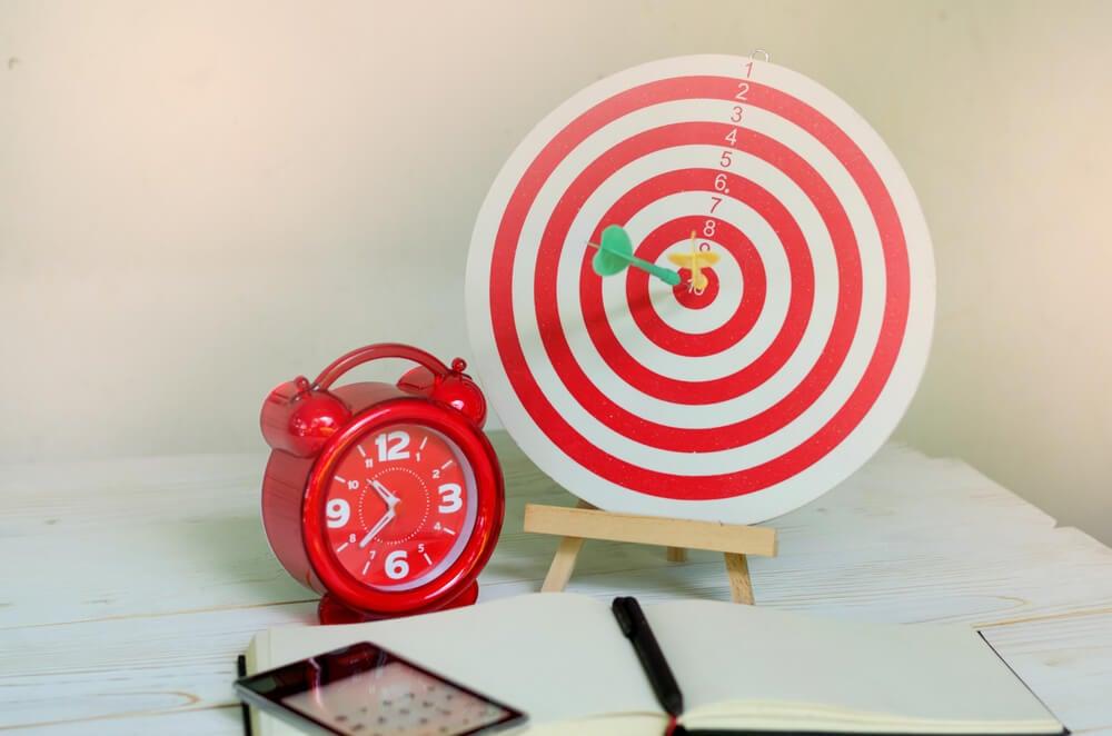 alvo relógio e caluladora