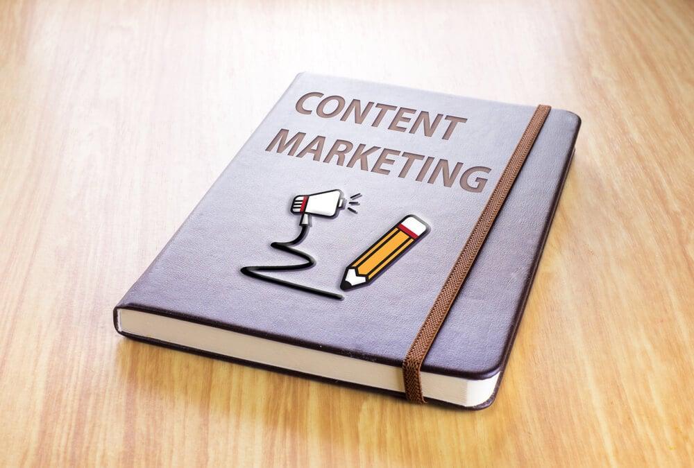 bloco de notas sobre marketing de conteudo