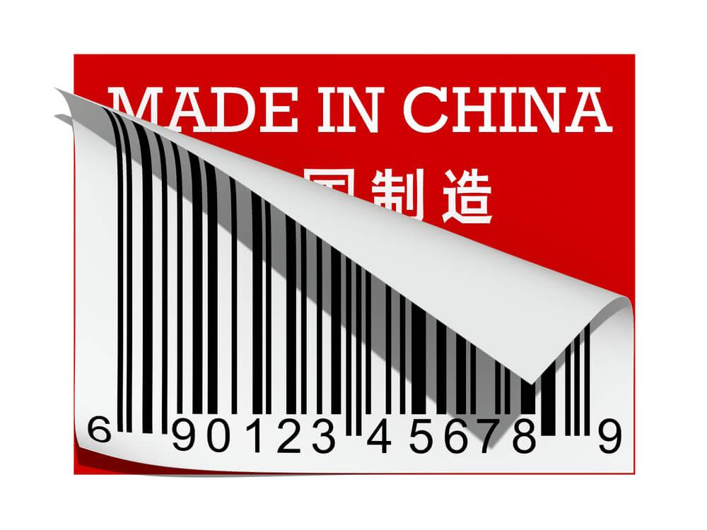 código de barras de produto importado da china