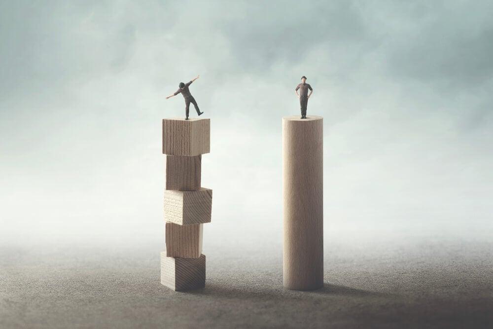 comparação entre representação de estabilidade e instabilidade