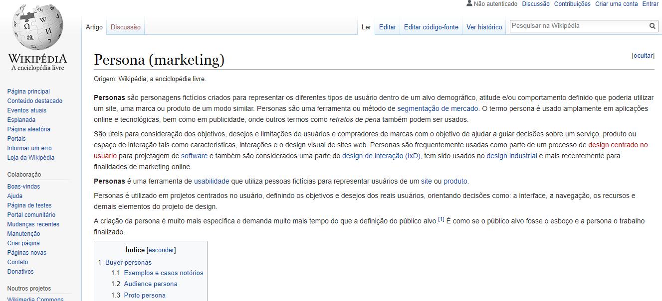 definição de persona wikipedia