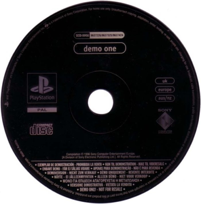disco demo do PlayStation original