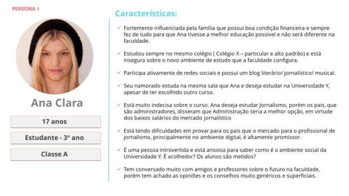 exemplo de persona Ana Clara