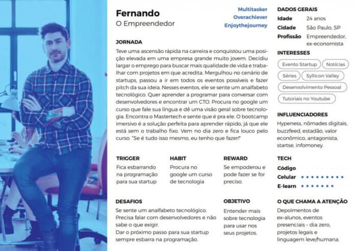 exemplo personas Fernando