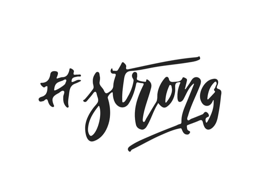 hashtag sobre força para contas de lifestyle