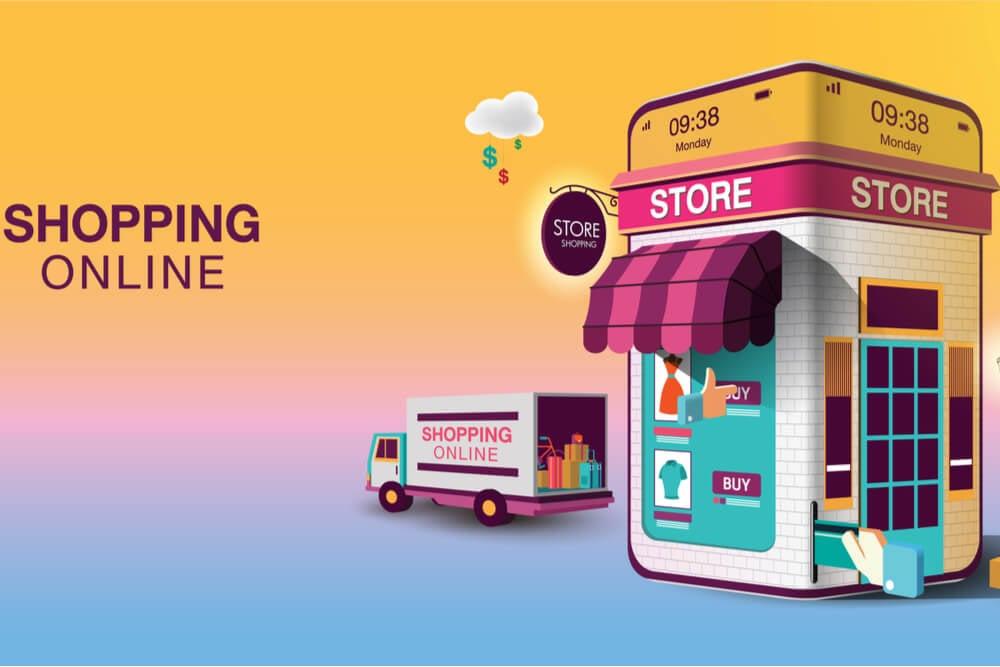 ilustração de aplicativo de loja online