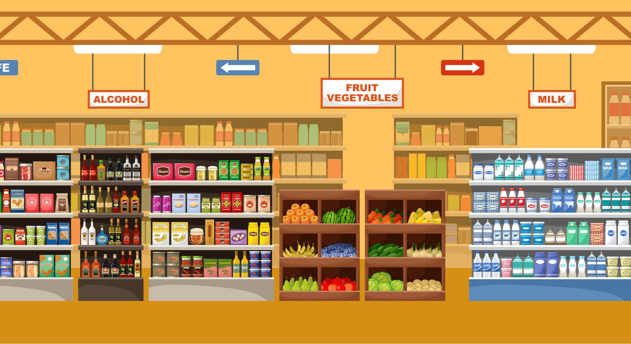 ilustração de mercado