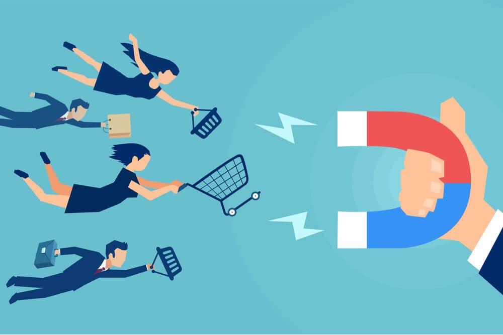 ilustração sobre como captar clientes