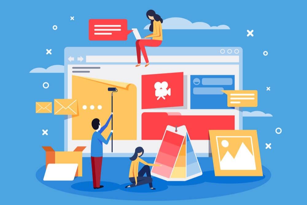 ilustração sobre construção de website