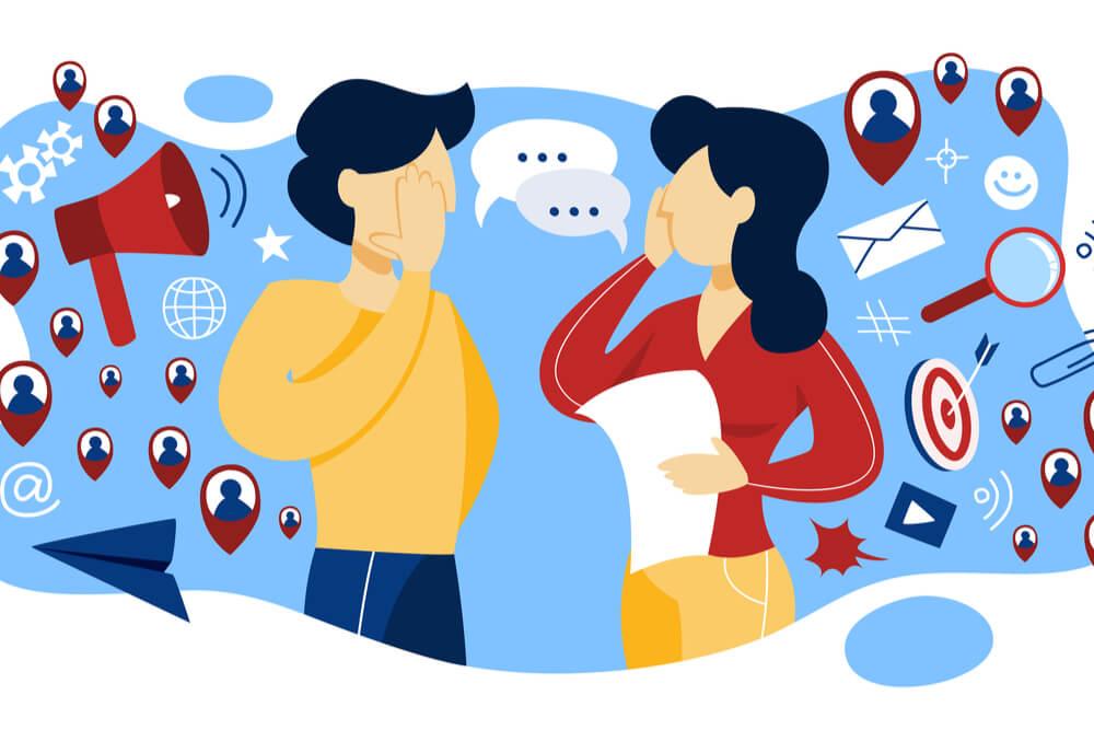 ilustração sobre marketing boca-a-boca