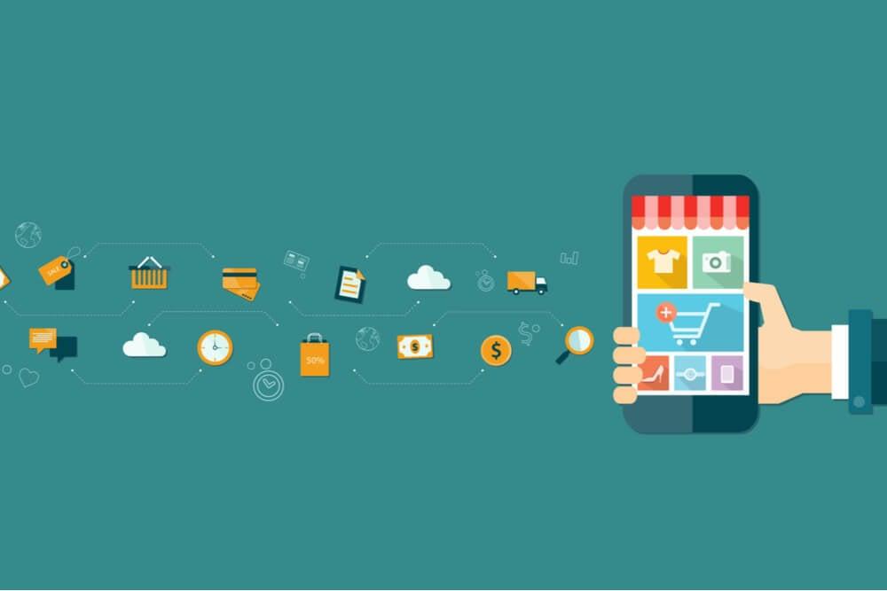 ilustração sobre mobile marketing