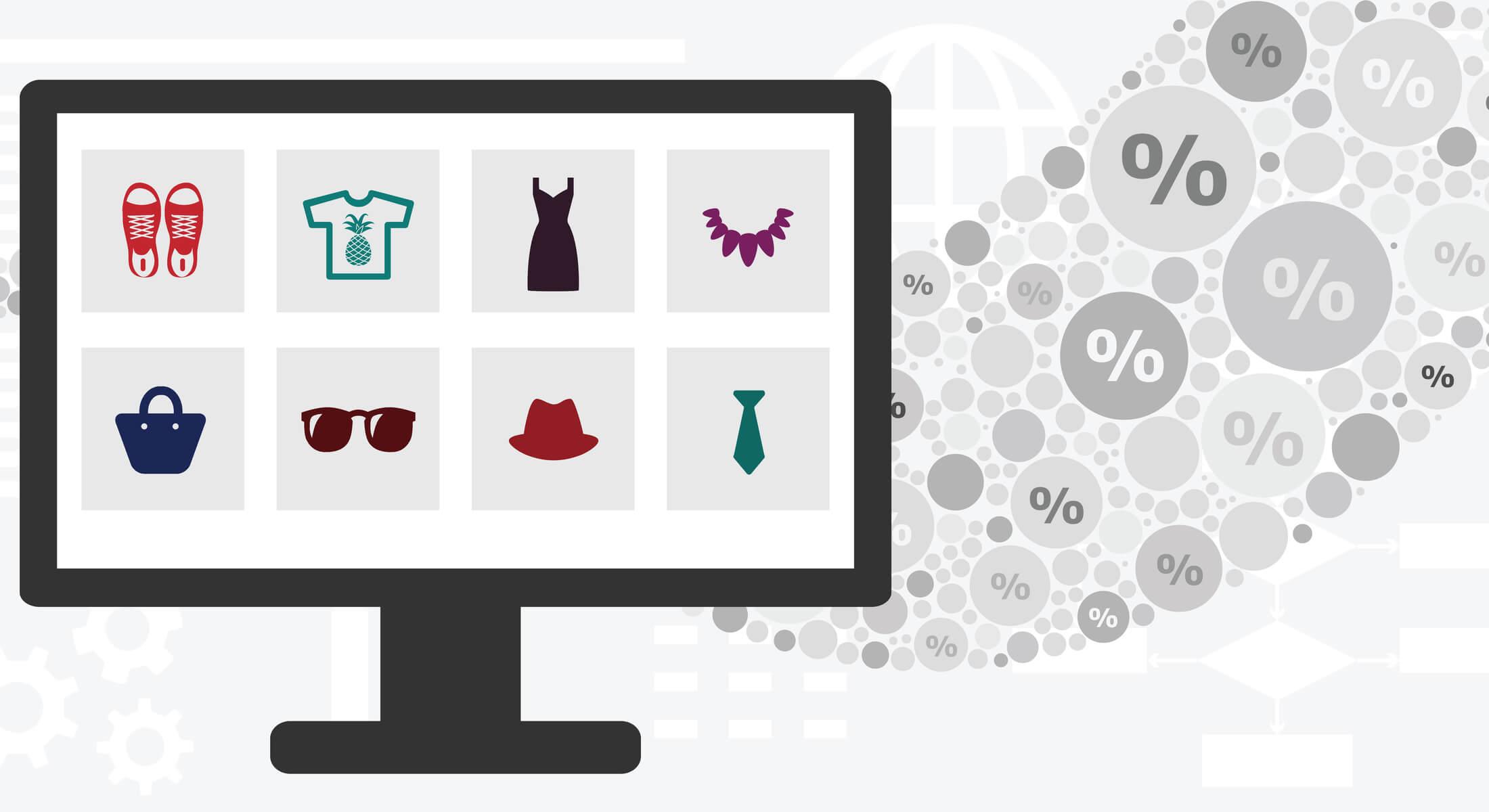 ilustração sobre o comportamento do consumidor online