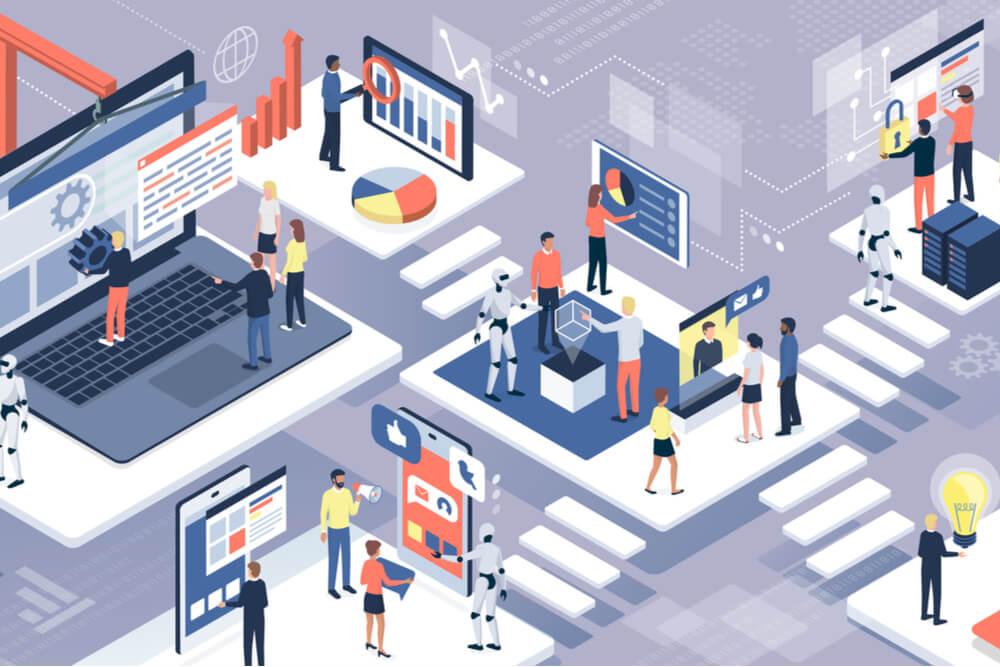 ilustração sobre processo de sistema de informação