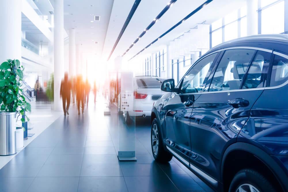 loja de carros como exemplo de negócio