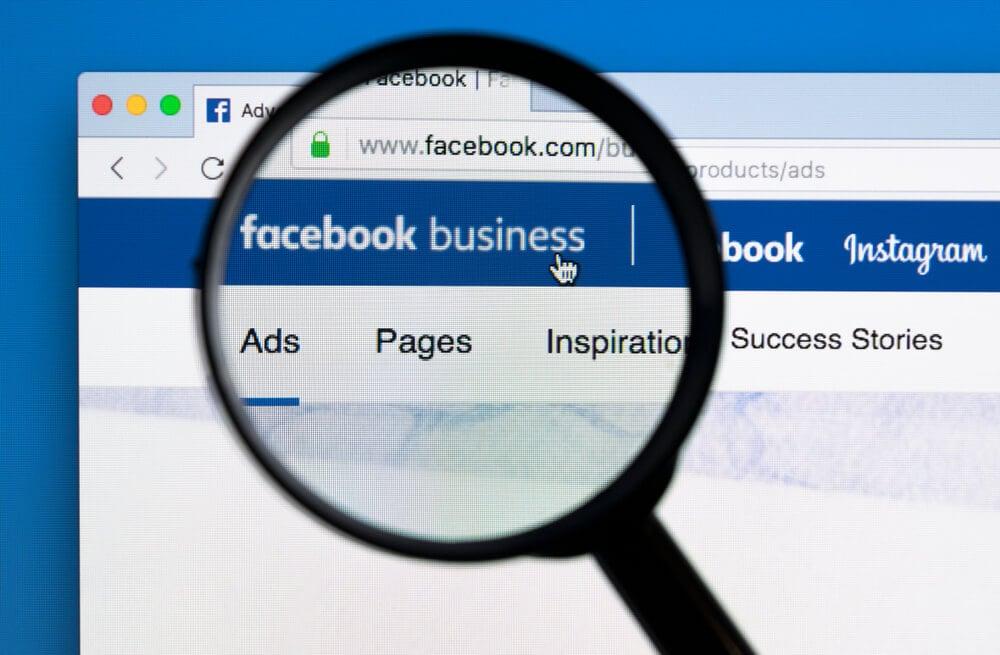 lupa no título da plataforma Business do Facebook