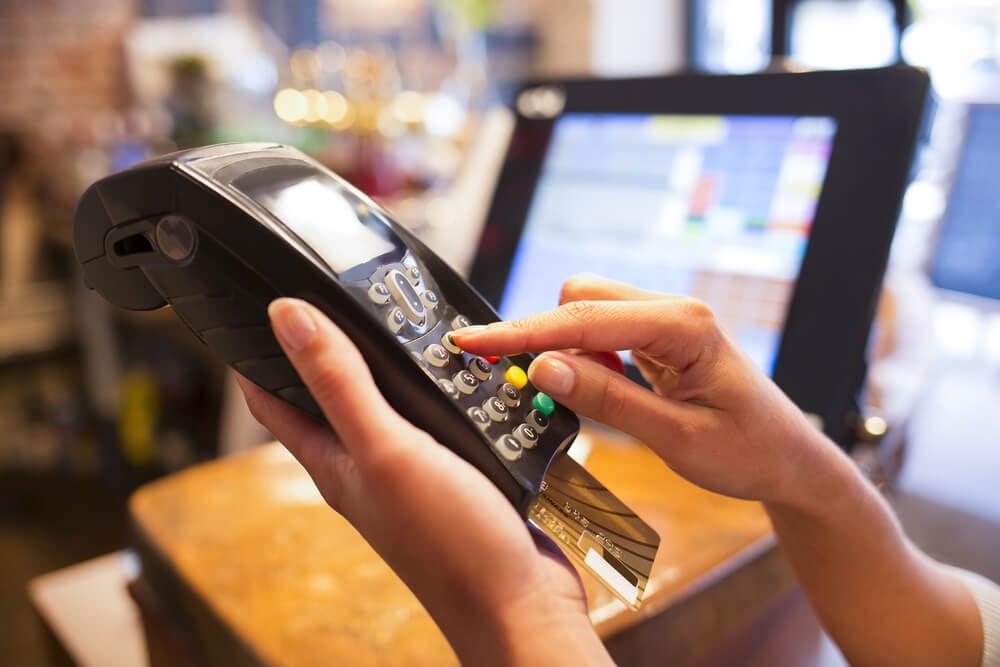 máquina de cartão de credito