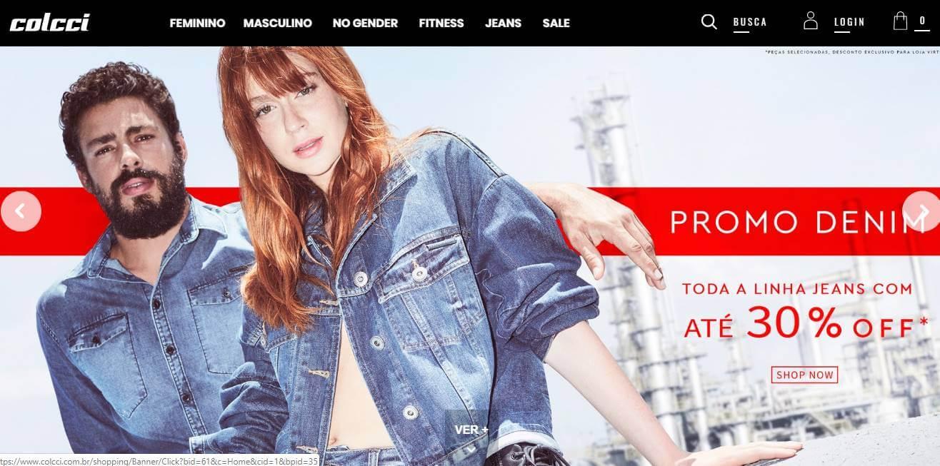 site brasileiro da marca Colcci