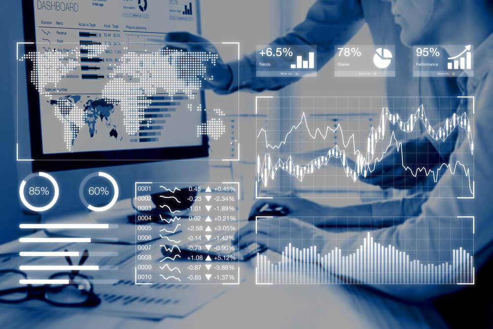 sobreposição de imagem de acesso a computador e dados executivos