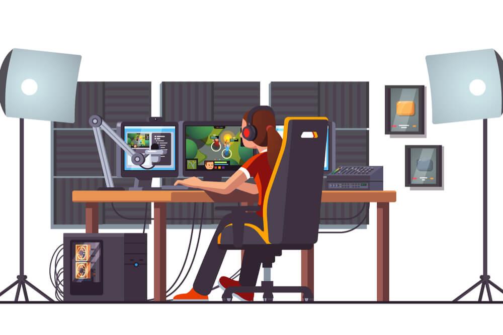 streamer de jogos eletrônicos