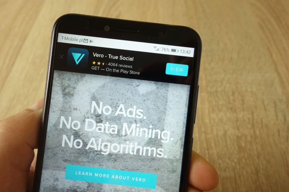 tela de download do aplicativo Vero
