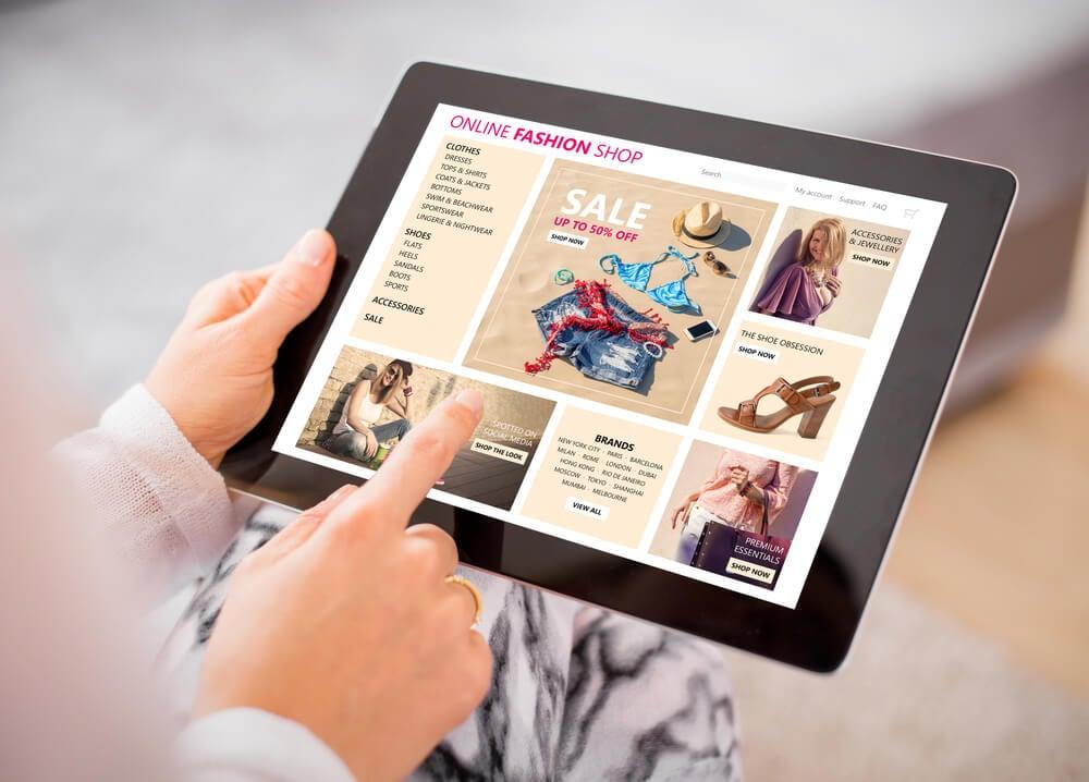 tela de vendas em tablet