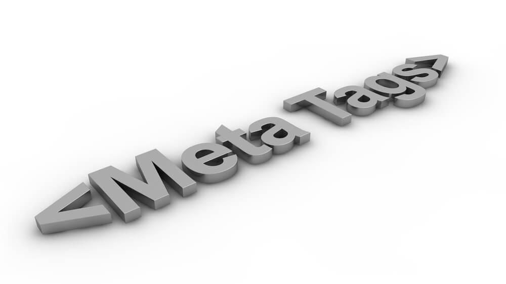 título Meta Tags em 3D