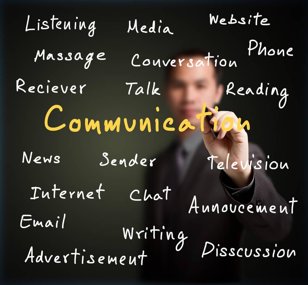 título sobre comunicação e termos relacionados