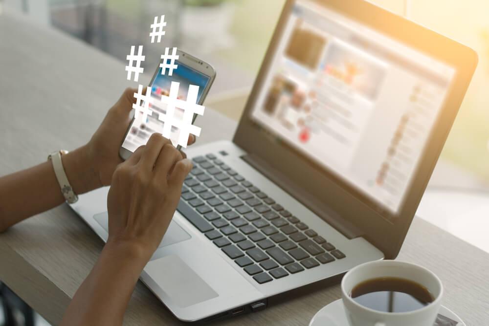 uso de hashtags no algoritmo do instagram